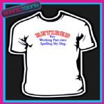 65th BIRTHDAY RETIRED BUT WORKING PART TIME DOG TSHIRT
